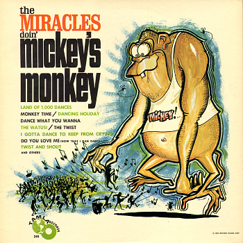 The Miracles' fifth studio album, 'Doin' Mickey's Monkey', which... well, far be it from me to suggest they weren't bringing their A game, but look at the state of this cover.  Look at it.  Bloody hell.