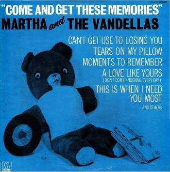 The Vandellas' debut LP, Come And Get These Memories. Note the sloppy proofreading.