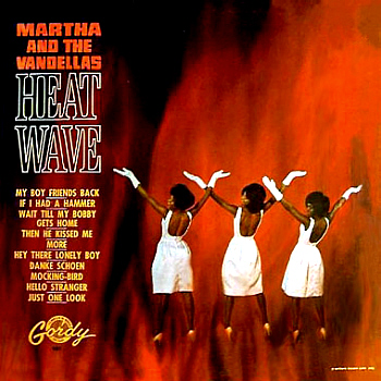 The Vandellas' second LP, 'Heat Wave', hastily recorded in the wake of their huge success with this single.