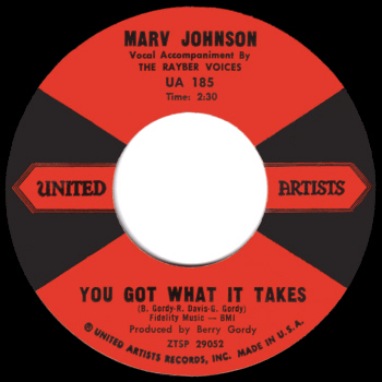 Marv Johnson's original version on United Artists.  Scan kindly provided by Gordon Frewin, reproduced by arrangement.