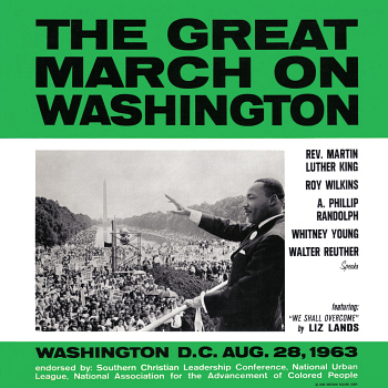 The LP 'The Great March on Washington', from which this song is taken.  Digital image from an original scan by, and courtesy of, Gordon Frewin. All applicable rights reserved.