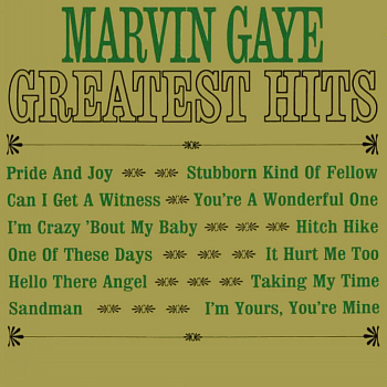 Marvin's 'Greatest Hits' LP, released in April 1964, which features this track - presumably just to fill up space, since this was neither a hit, nor great. Digital image from an original scan by Gordon Frewin; all applicable rights reserved.