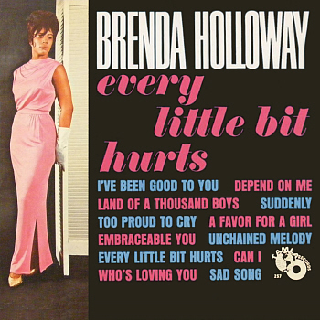 Brenda's sole Motown LP, 'Every Little Bit Hurts', from which this song is taken, hastily recorded and released in the wake of the success of the title track.