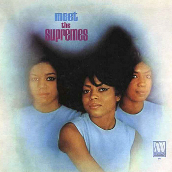 The Supremes' début LP 'Meet The Supremes', reissued in a new sleeve in the wake of this single's success.  Scan kindly provided by Gordon Frewin, used by arrangement.