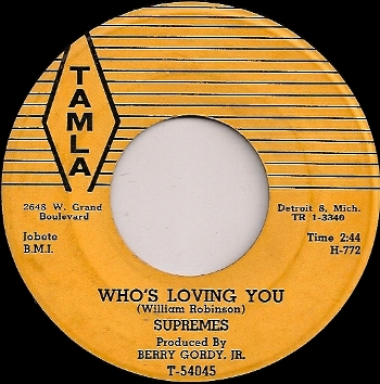 """95. The Supremes: """"Who's Lovin' You"""" 