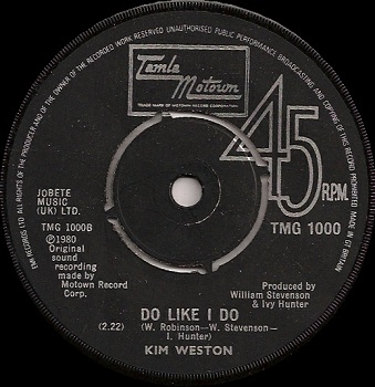 The British pressing of 'Do Like I Do', an alternate version of this song. Scan kindly provided by Robb Klein, reproduced by arrangement.