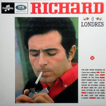 Richard's 1965 LP 'Richard à Londres', from which both sides of this single were taken.