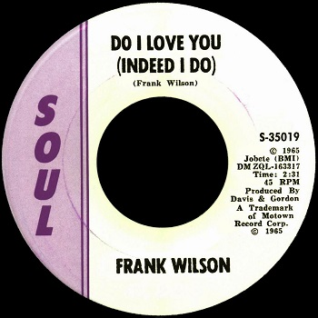 Another bootleg, combining a real Soul 45 label with the real printed data from the promo - well-executed enough to fool some collectors into believing there are stock copies around. But there aren't; a physical examination of this one reveals non-kosher matrix numbers.