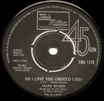 The first official release of 'Do I Love You', from Britain in 1979 - sadly not a hit.